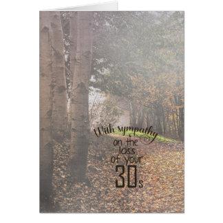40th aniversário-simpatia em madeiras nevoentas cartão comemorativo