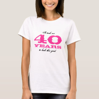 40th Camisa de Bitrthday para mulheres |