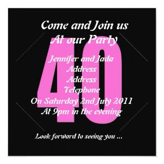 40th Convite de festas