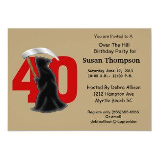 40th Convite do aniversário do Ceifador