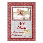 40th Convites da foto do aniversário de casamento