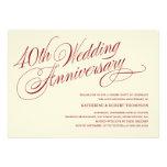 40th Convites do aniversário de casamento