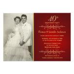 40th convites elegantes do aniversário de casament