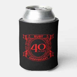 40th crista do rubi do aniversário de casamento