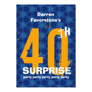 40th Festa de aniversário da SURPRESA Convite 12.7 X 17.78cm