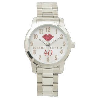 40th Presentes do aniversário de casamento para a Relógios De Pulso