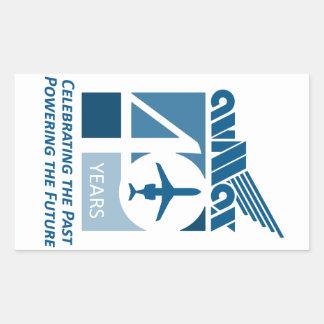 40th Roupa do logotipo Adesivo Retangular