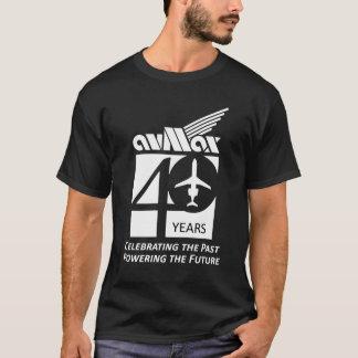 40th Roupa do logotipo Camiseta