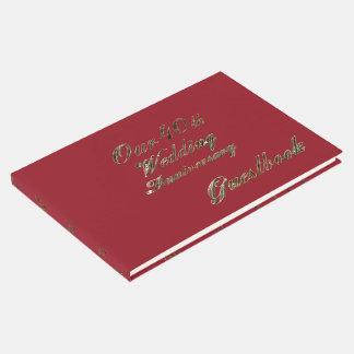 40th Tipografia do ouro do rubi do aniversário de Livro De Visitas