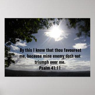 41:11 do salmo do verso da bíblia posters