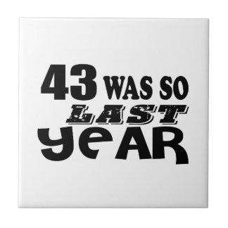 43 era assim tão no ano passado o design do