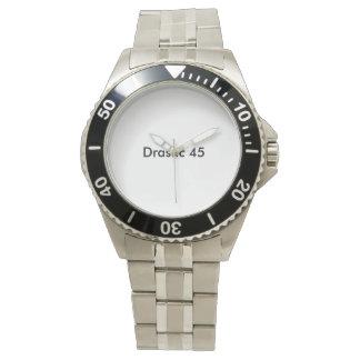 45 drásticos relógio de aço inoxidável