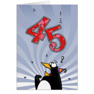 45th aniversário - cartão da surpresa do pinguim