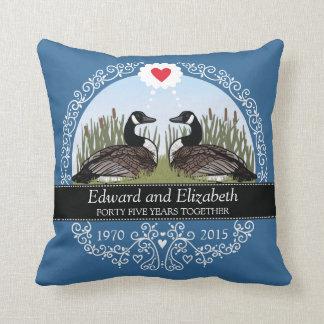 45th aniversário de casamento personalizado, travesseiro de decoração