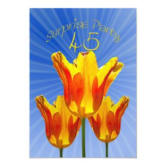 45th Convite de aniversário da surpresa Convite 12.7 X 17.78cm