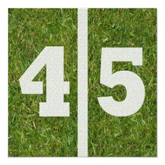 45th Convite de festas do futebol do aniversário