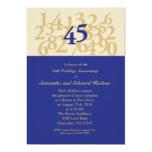 45th Convite do aniversário de casamento da safira