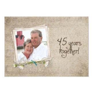 45th Renovação do voto do aniversário de casamento Convite 12.7 X 17.78cm