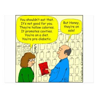 460 petiscos em desenhos animados da venda cartão postal