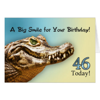 46th Cartão de aniversário