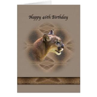 46th Cartão de aniversário com puma
