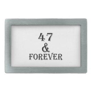 47 e para sempre design do aniversário
