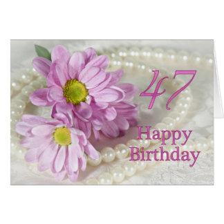 47th Cartão de aniversário com margaridas
