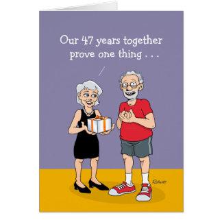 47th Cartão do aniversário de casamento: O amor é