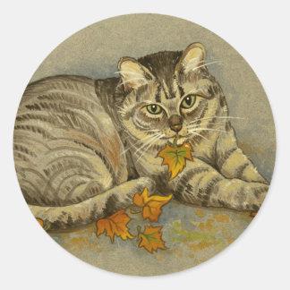 4872 etiquetas do gato do outono