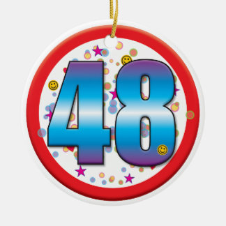 48th Aniversário v2 Enfeite Para Arvore De Natal