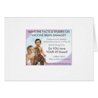 49 doses/lesão cerebral da vacinação cartão comemorativo