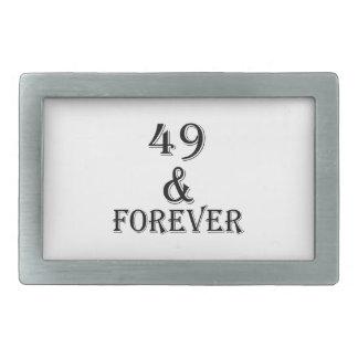 49 e para sempre design do aniversário