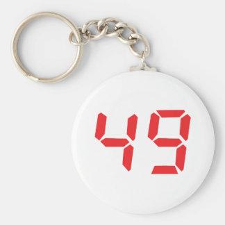 49 quarenta e nove números digitais do despertador chaveiro