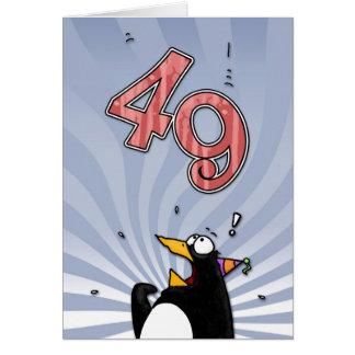 49th aniversário - cartão da surpresa do pinguim