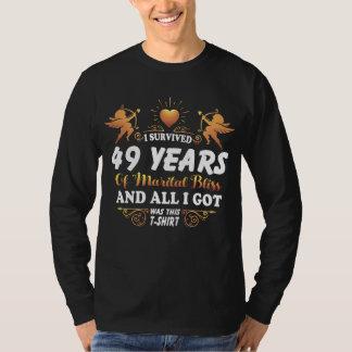 49th Camisa do aniversário para a esposa do marido