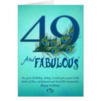 49th Cartões do modelo do aniversário