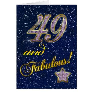 49th Convite de aniversário