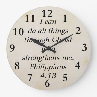 4:13 dos philippians relógio para parede