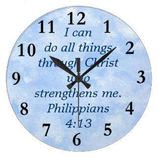 4:13 dos philippians relógios para pendurar