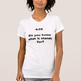 4:20 você sabe o que representa? t-shirts