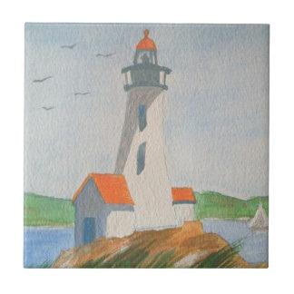 """4,25"""" x 4,25"""" azulejo - costa de Nova Inglaterra"""