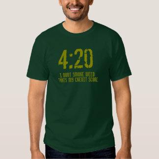 """""""4: Camisa t de 20 pontuações de crédito de"""" Tshirt"""