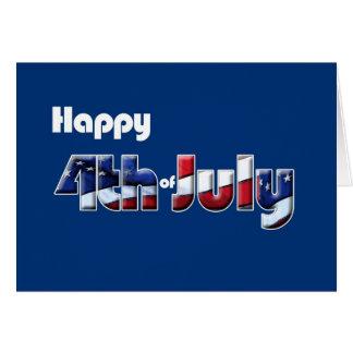 4 de julho humor patriótico do cartão