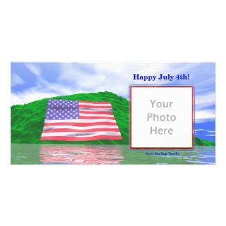 4 de julho - paisagem da bandeira dos E U Cartoes Com Fotos
