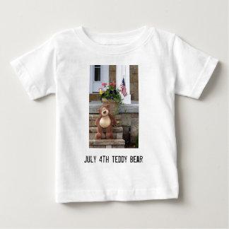 4 de julho t-shirt da criança do urso de ursinho