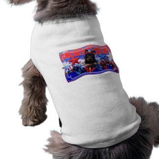 4 de julho - Yorkie - Stella Camisa Para Cães