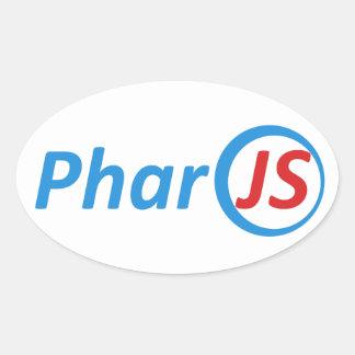 4 etiquetas lustrosas de PharoJS