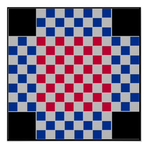 "4 jogador - o conselho do ~TAG~ da xadrez (~1"" ímã Posters"