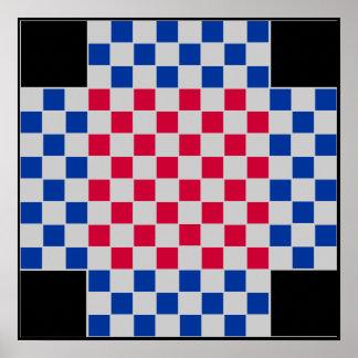 4 jogador - o conselho do TAG da xadrez do futebol Poster