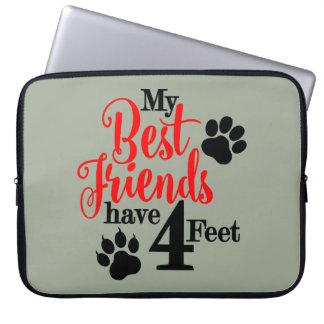 4 pés de melhores amigos capa para laptop